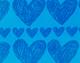 Estampado Corazones Azules