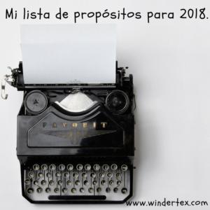 lista de propósitos 2018